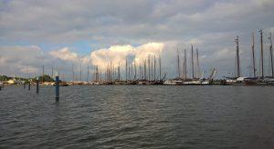 De Gependam vanaf ons plekje in de Buijshaven